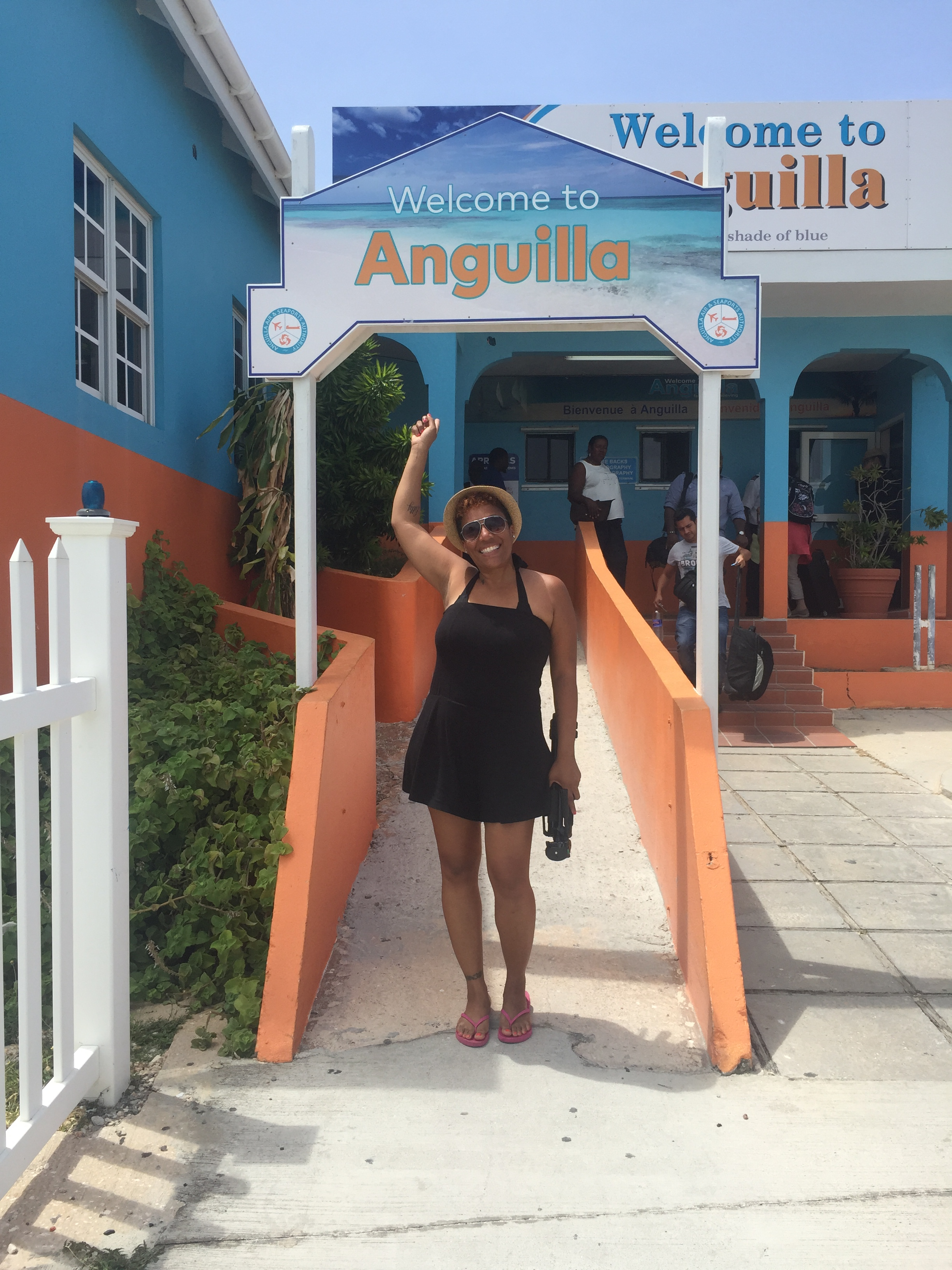 Arrival at Anguilla